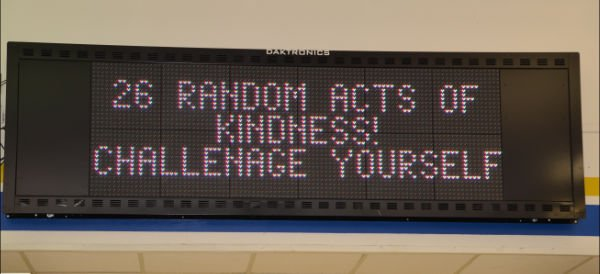 If there is a way to get the message out there, the 26 Acts of Kindness Robinson SGA Committee will find it—and use it.