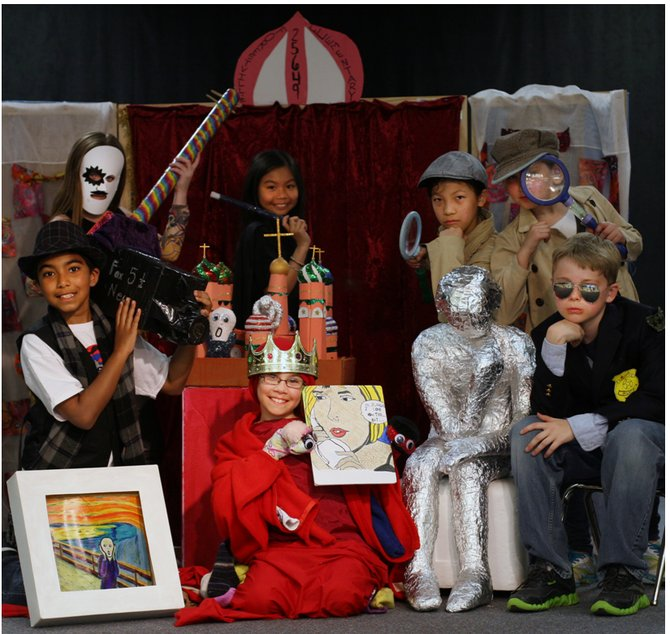 Forestville Elementary School's Odyssey of the Mind Team.