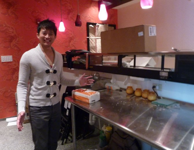 "Sushi chef Saran ""Peter"" Kannasute shows off his future work space at the soon-to-open Sushi Bar in Del Ray."
