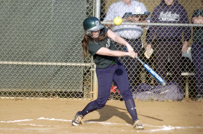 South County sophomore second baseman Cara Yates finished 4-for-5 with a triple and four RBIs against Lake Braddock on Tuesday night, April 23.