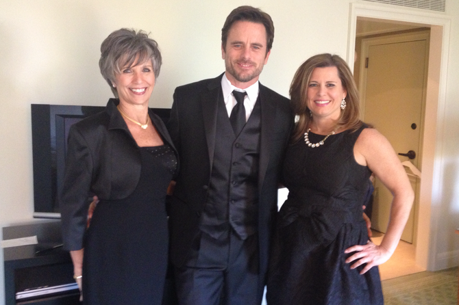 "Charles ""Chip"" Esten with mom Cynthia and sister Cathy Puskar. Chip and Cathy are working together to put on the Friday, May 3, benefit concert for The Scholarship Fund of Alexandria where Chip will perform new, original songs to benefit students of his alma mater, T.C. Williams High School; Puskar is chair of the board of trustees for The Scholarship Fund of Alexandria."