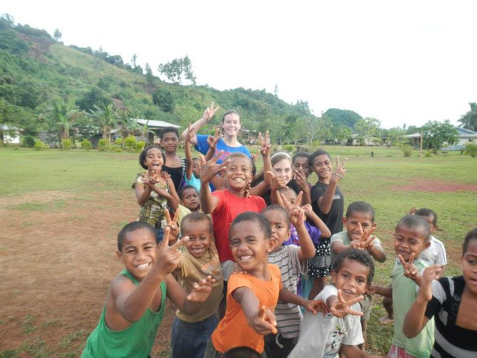 Emma Schutzius on her 2012 Girl Scout Fiji Destination.
