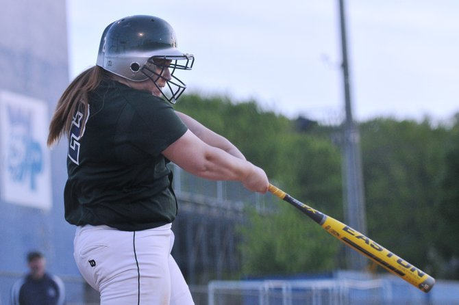 South County catcher Haylea Geer hit a three-run home run against West Potomac on Friday night.