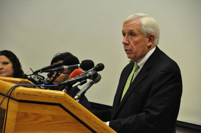 Rep. Frank Wolf (R-10) speaks at a forum on human trafficking at the McLean Community Center in May. Wolf is chair of the House Commerce-Justice-Science Appropriations subcommittee, which hosted a hearing on human trafficking on Feb. 26.