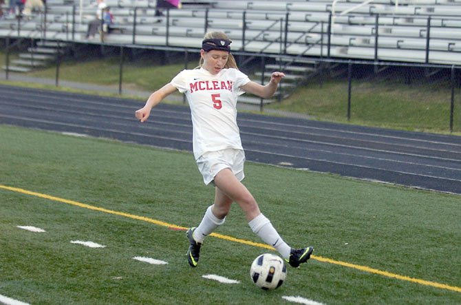 McLean junior Maire Shine assisted the Highlanders' lone goal during a 1-0 victory against Madison on May 2.