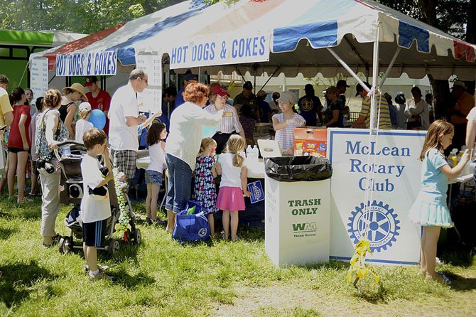 McLean Rotary Club will be the only pizza vendor at the McLean Day celebration.