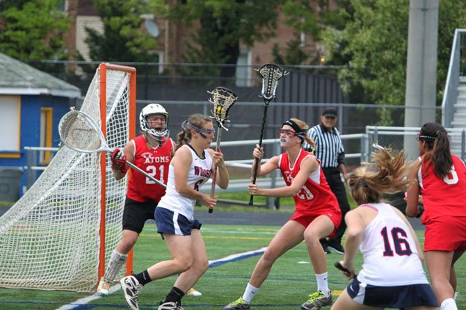 Woodson senior Laura Dunn (6) scored six goals against Annandale on Tuesday night.