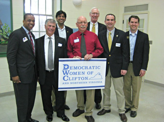 Participants in the 2013 Democratic Candidate Forum pose for a photo.