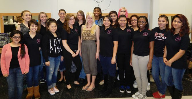 Chantilly Governor's STEM Academy students received the Gold President's Volunteer Service Award,