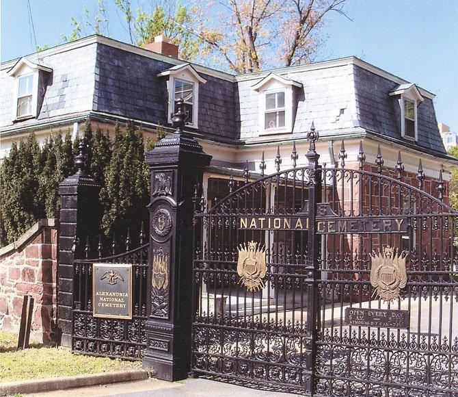The lodge, Alexandria National Cemetery