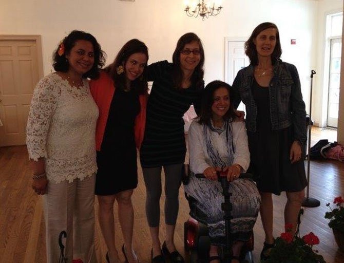 Salma Hasan Ali, Yael Luttwak, Rebecca Kahlenberg, Luby Ismail and Elizabeth Petty at MoverMom Inspiration Day.
