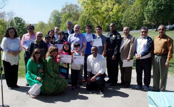 Members of the Montgomery County Muslim Foundation celebrate community service.