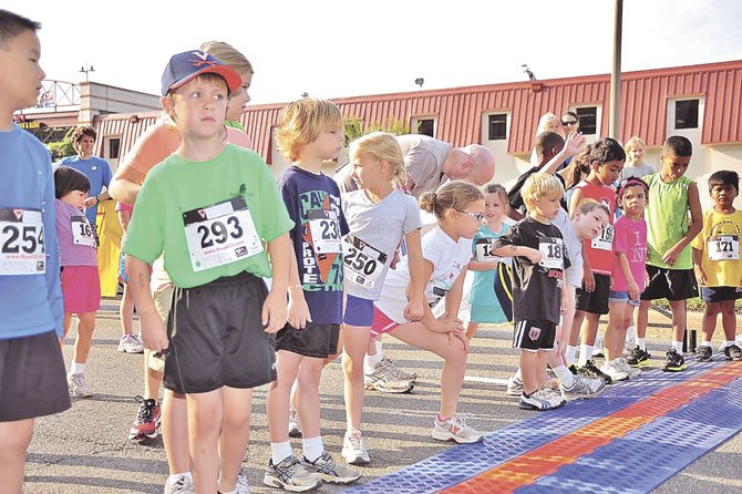 Youngsters participate in last year's Alexandria Running Festival Half Marathon and 5K.