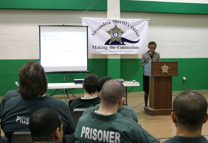 Fannie L. Allen gives inmates at the Alexandria jail instruction on the importance of good manners and courteous communications.