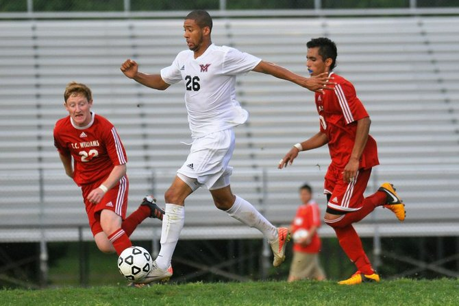 Rahim Costa-Dorsey and the Mount Vernon boys' soccer team beat T.C. Williams in a penalty-kick shootout during the Northern Region quarterfinals on May 23.