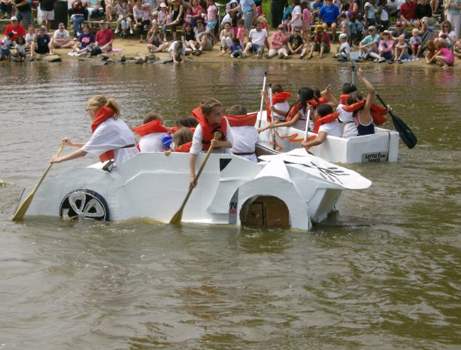 The cardboard boat regatta, one of the most popular Springfield Days activities, will be held at Lake Accotink Park on Sunday, June 2.