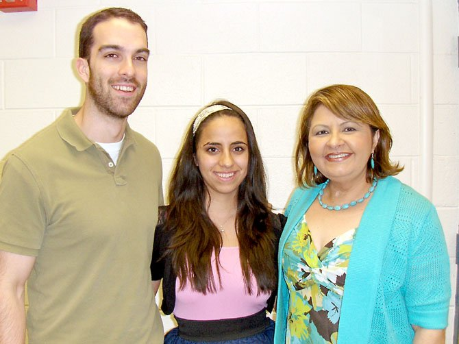 >(From left) are Enrique Fernandez, Maritza Villarroel and Ruth Azimi.