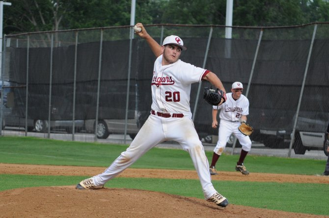 Oakton pitcher RJ Gaines threw a complete game against South County on Wednesday in the Northern Region semifinals.