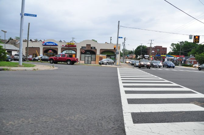"The ""Listrani's Peninsula"" at the intersection of Old Dominion Drive, Chain Bridge Road and Elm Street, is scheduled to be extended to the crosswalk, to make crossing easier and safer for pedestrians in downtown McLean."