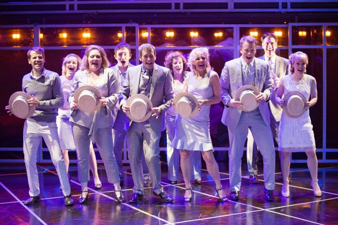 "The cast of ""Company,"" at Signature Theatre through June 30, turns Manhattan into a dance floor as they sing ""Side By Side By Side."""