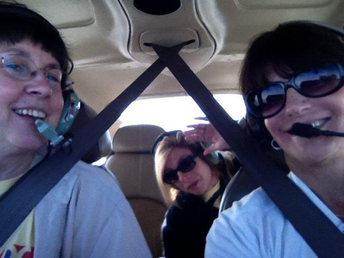 The team from 2012 Air Race Classic: Debi Dreyfuss, Linda Knowles and Carol Bailey.