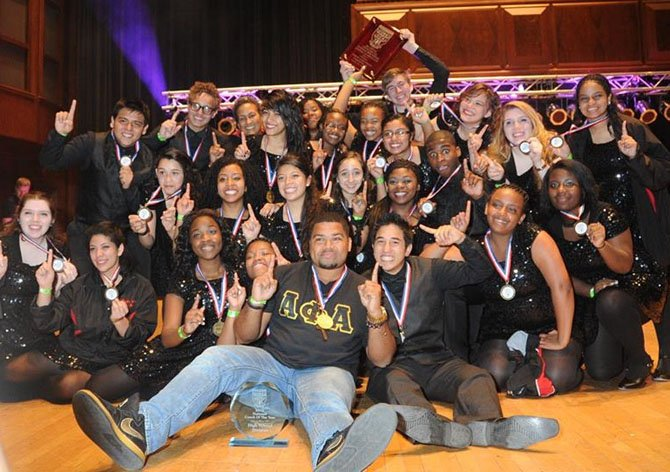 The Herndon High School Step Team Saturday, May 25, after winning the 2013 Youth Step USA National Championship.