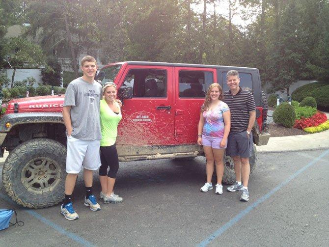 Evan Rosenstock, sister Shelby Lackman, sister Allison Rosenstock and father Howard Rosenstock