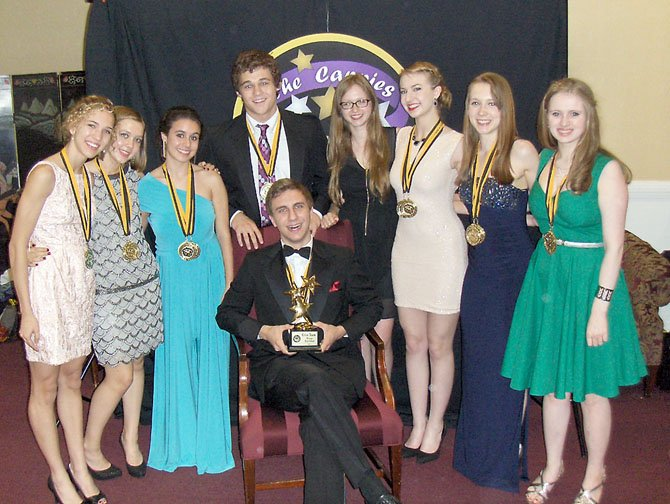Critics' Teams: McLean High School, (from left): Marielle Burt, Emma Paquette, Isabel Zapata, Damian Leverett, Polina Tamarina, Siena Richardson, Madelyn Paquette, Rachel Lawhead and (seated) Max Johnson.