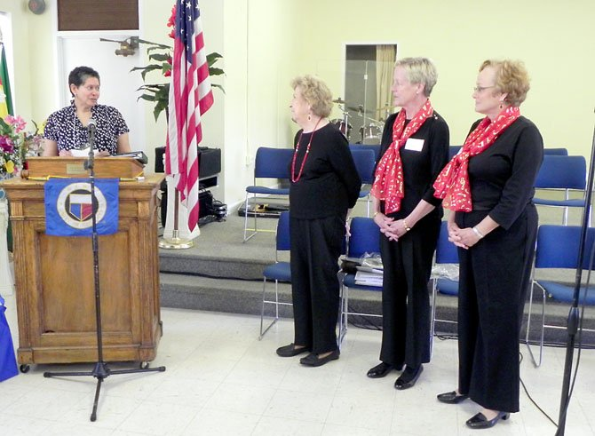 From left: Reading specialist Karla Barnes, Woman's Club Education Committee Chairman Iris Reimann, co-Chairman Wanda Miller and member Marianne Polito.