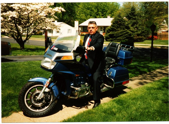 Bob loved his motorcycles, and the students at Robinson loved seeing the Honda Gold Wing sitting in the principal's parking space.
