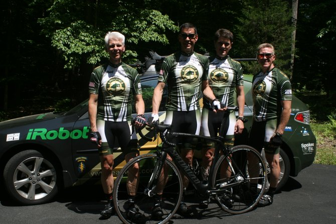 Team Green Beret Foundation, from left: Gino Elsea, Dave Johnson, Andrew Schaaf and David Viens.