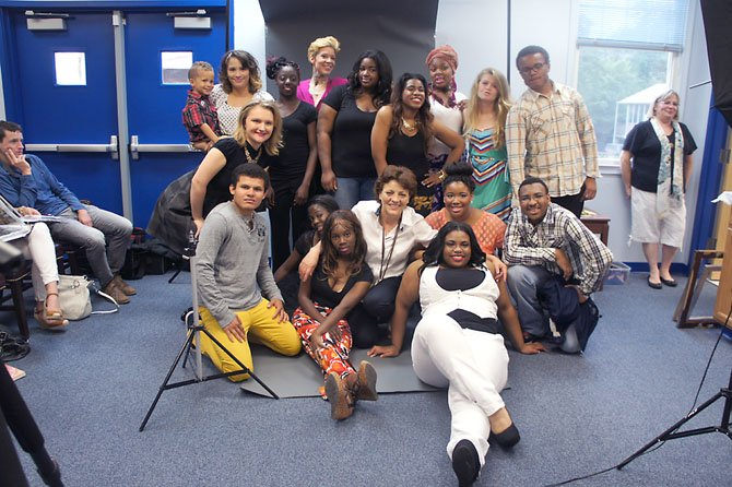 The whole Fashion Club team poses to celebrate a successful Fashion Show and Shoot.
