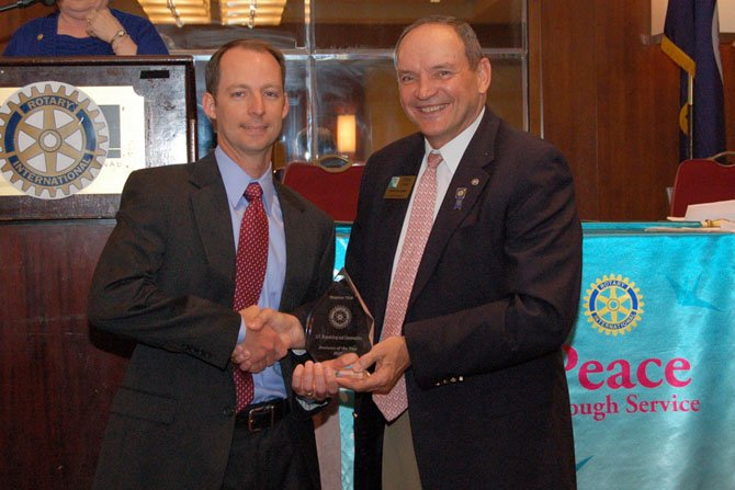 Vincent D'Avena, (left), and Steve Cook, Rotary District 7610 governor.
