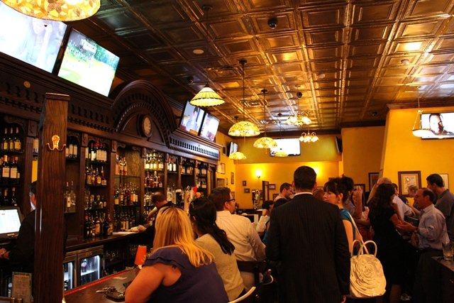 Finnegan's boasts a custom Dublin-designed 12-foot-high, 30-foot-wide bar, 16-plus bar seats, many LED HD TVs, and a full menu of traditional and progressive Irish food. There is also an outdoor patio.