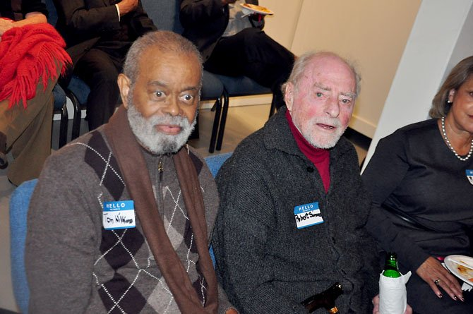 Dr. Thomas Wilkins with Reston founder Robert Simon. Wilkins, a longtime Reston resident and civil rights activist, passed away Saturday, July 20 at the age of 83.