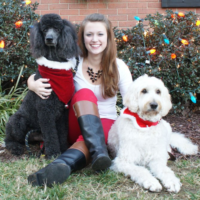 Toby, Lauren Lewis and Annie Christmas 2012