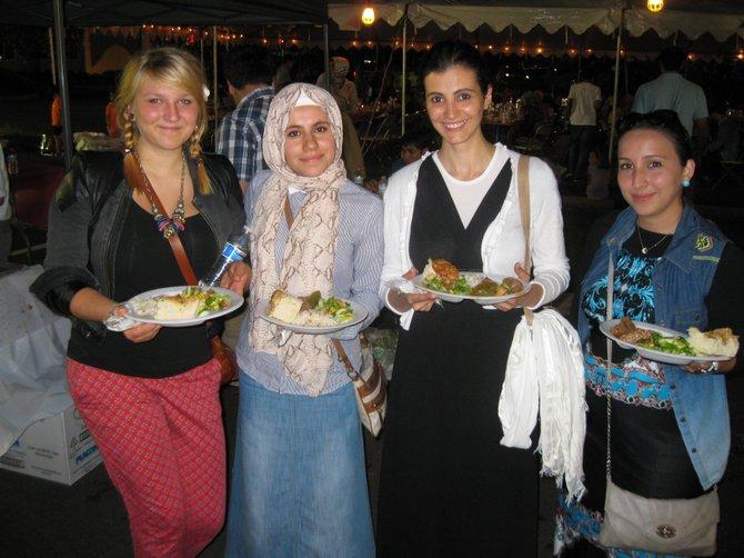 (From left): Nina Fraenkel of Germany, Fariza Madieva of Tajikistan, Yasemin Ay of Turkey and Aisha Telbisoglu of Azerbaijan.