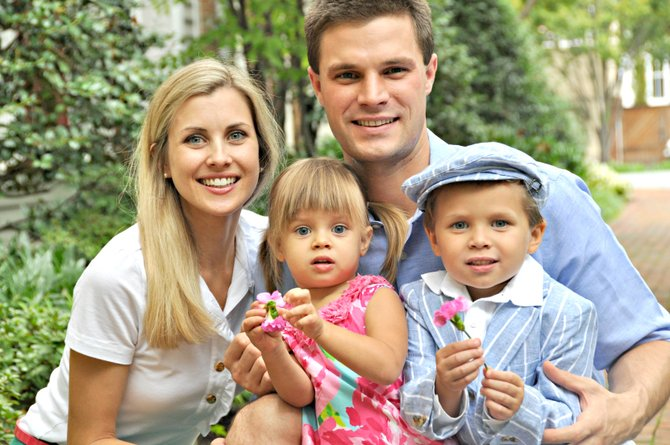Kristen and Jason Paral and their children Jack, 5, and Lucy, 3, make Vienna home.