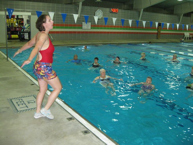Calla Willett teaches general Deep Water Aerobics classes at the Mount Vernon RECenter.