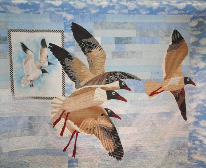 "In the healing category, Dianne E. Thomas created this quilt called, ""From Papa's Window."""