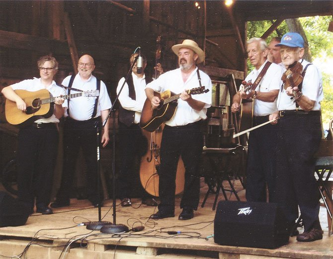 The New Old-Time String Band with Andrew Acosta in center.