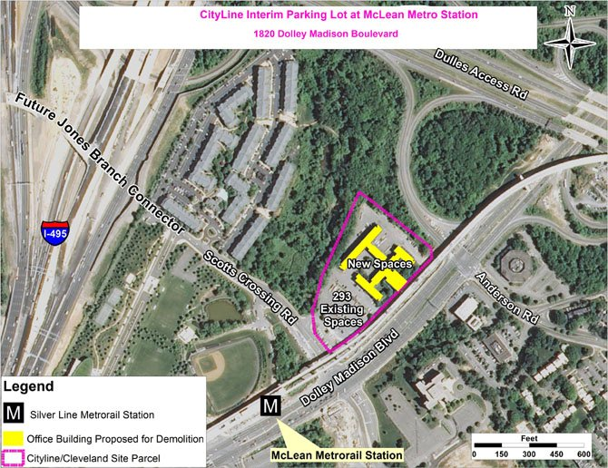 The Fairfax County Board of Supervisors approved an interim commuter parking lot for the McLean Metro Station July 30.