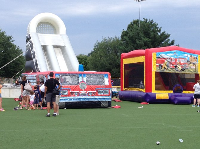 In addition to the wiffle ball tournament, the event features a Kids' World for children to play.