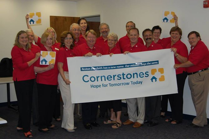 The Cornerstones, formerly Reston Interfaith, board unveils their new name and logo, which became official Aug. 1.