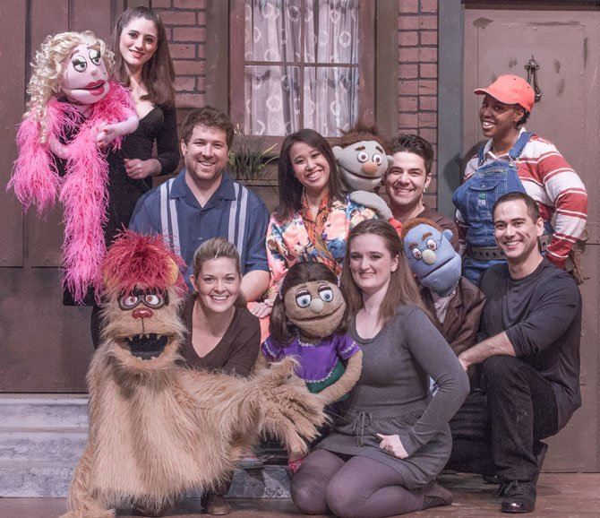 "The LTA cast of the musical ""Avenue Q,"" which runs through Aug. 17."