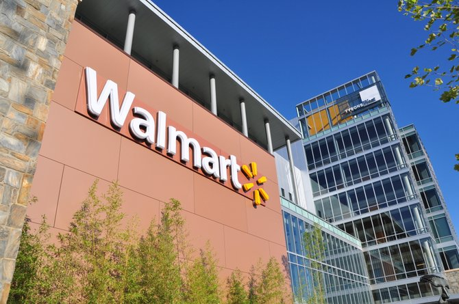 The Walmart in the Tysons West building officially opened Wednesday, Aug. 14.