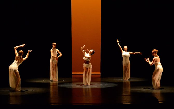 "Gin Dance Company dancers in ""The Core."""