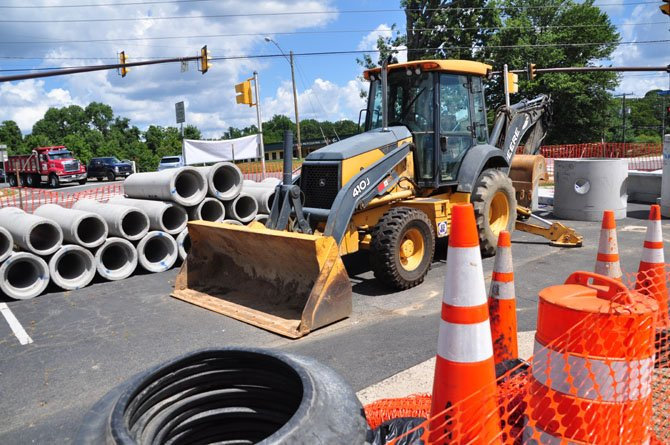 "Construction equipment is at the ready to begin the Walker Road ""diet"" plan, which will make the road easier to navigate for drivers and safer for pedestrians."
