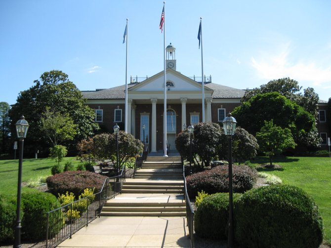 Fairfax City Hall in the City of Fairfax.