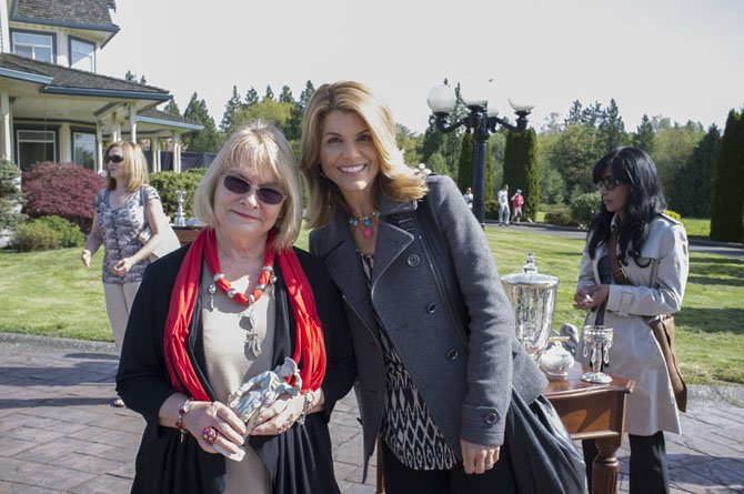 "Author Suzi Weinert with actress Lori Laughlin, who will portray Jennifer Shannon, the protagonist in the movie ""Garage Sale Mystery,"" which is based off of Weinert's first novel."